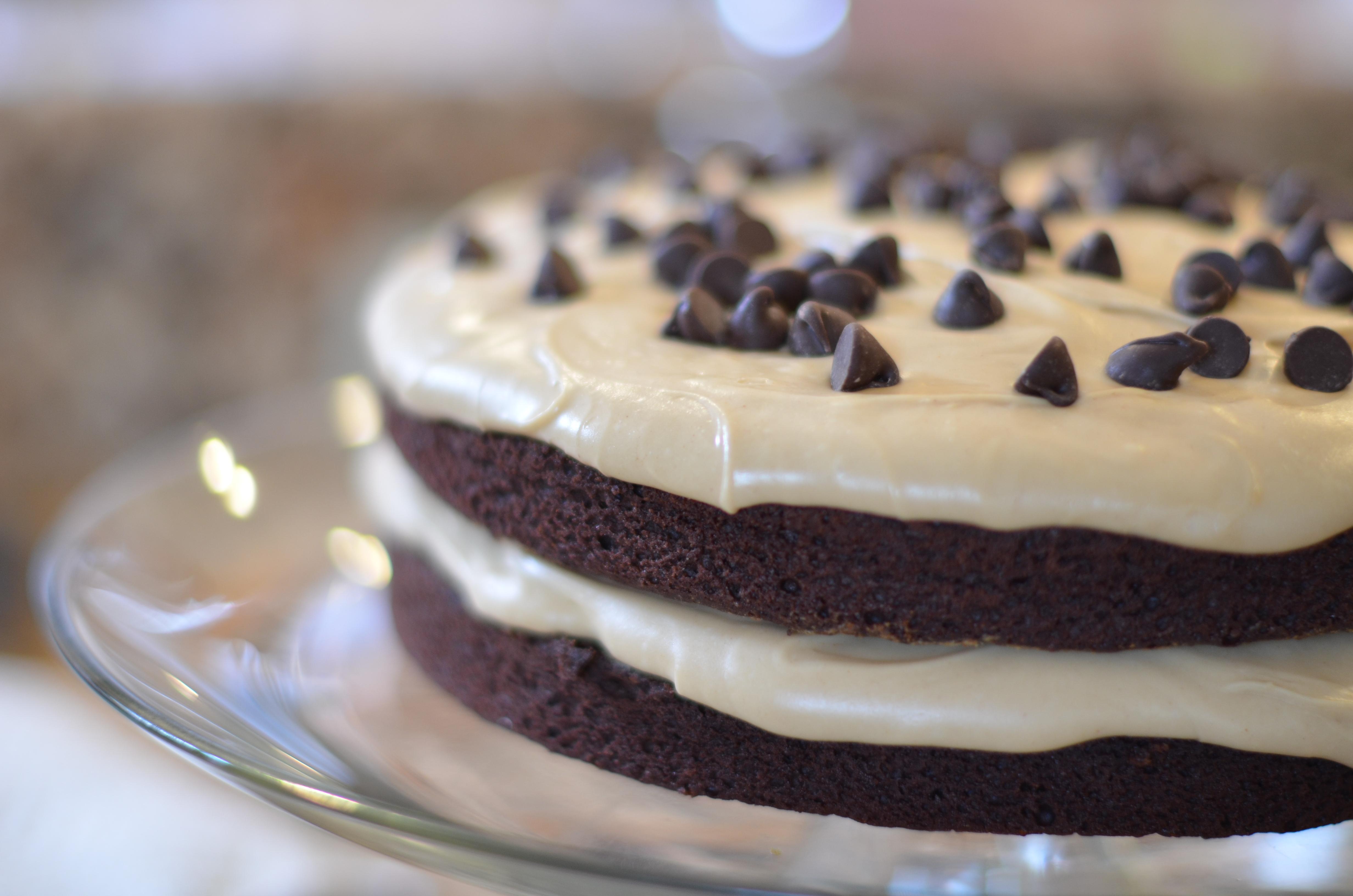 Black Joe Cake With Peanut Butter Icing