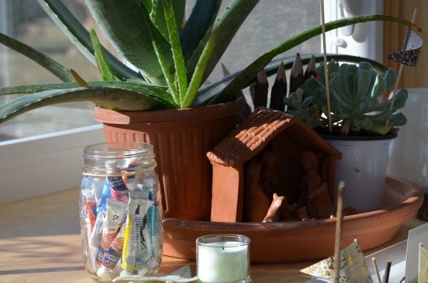 paints in jar